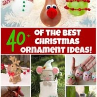 Over 40 of the BESET Christmas Ornament Ideas!
