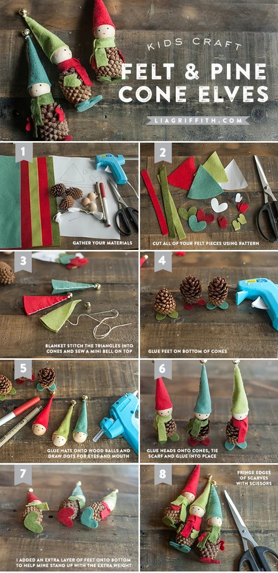 Pine Cone Elves Ornaments....these are the BEST Christmas Ornament Ideas!