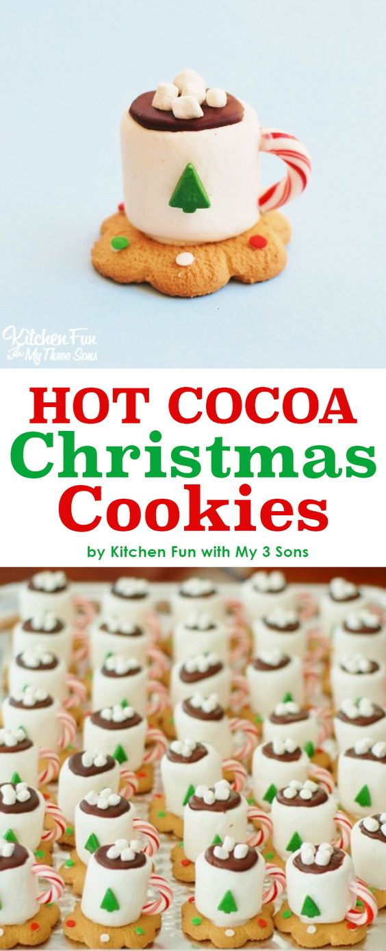 Hot Cocoa Christmas Cookies...such a fun & easy Kids treat for the Holidays!