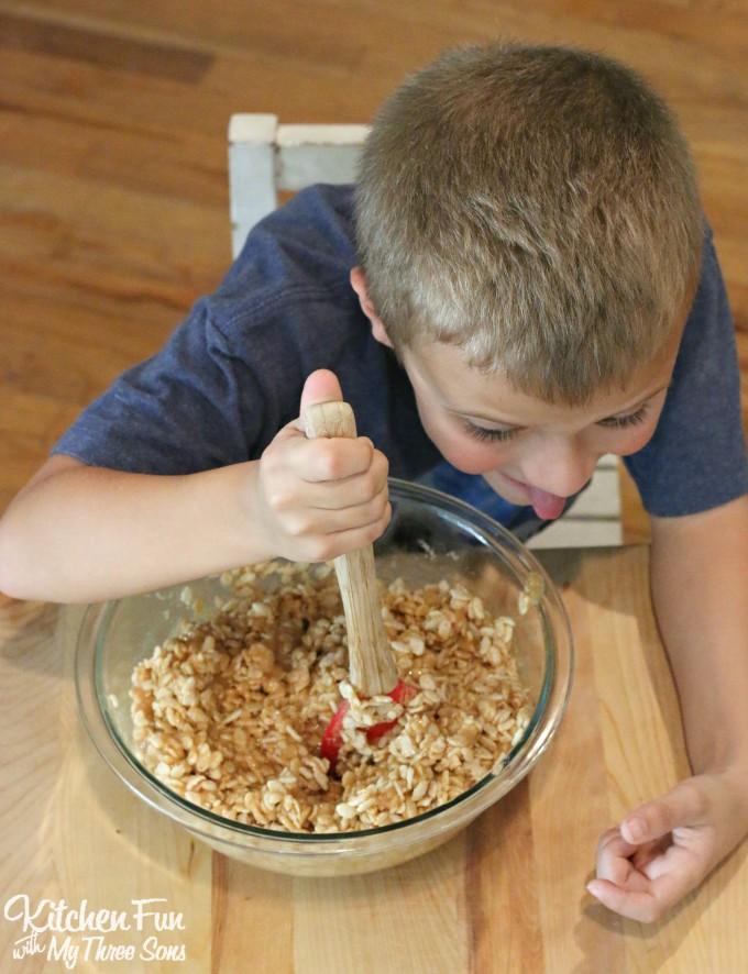 Reese's Cookies - No Bake Peanut Butter & Chocolate Rice Krispies Treats Recipe