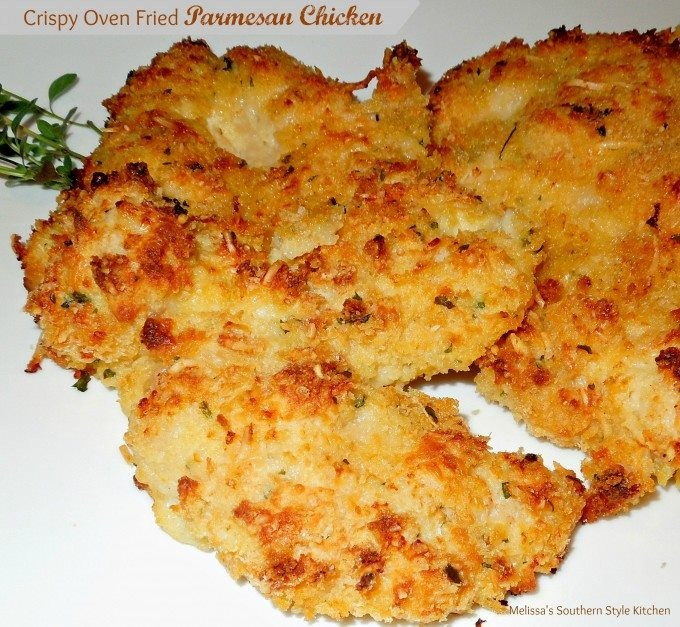 Crispy Oven Fried Parmesan Chicken...these are the BEST Comfort Food Recipes!