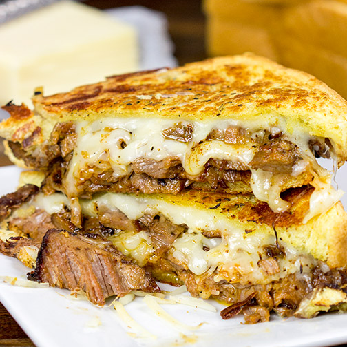 Smoked Brisket Grilled Cheese...these are the BEST Comfort Food Recipes!