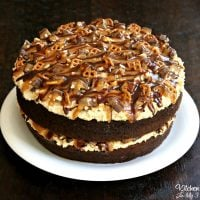 Take 5 Cake - Chocolate Cake with a peanut butter filling, chopped Take 5 candy bars, caramel, and chocolate....AMAZING recipe!