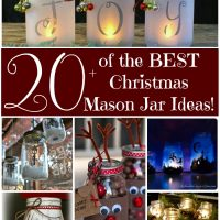 Over 20 of the BEST Christmas Mason Jar Ideas!