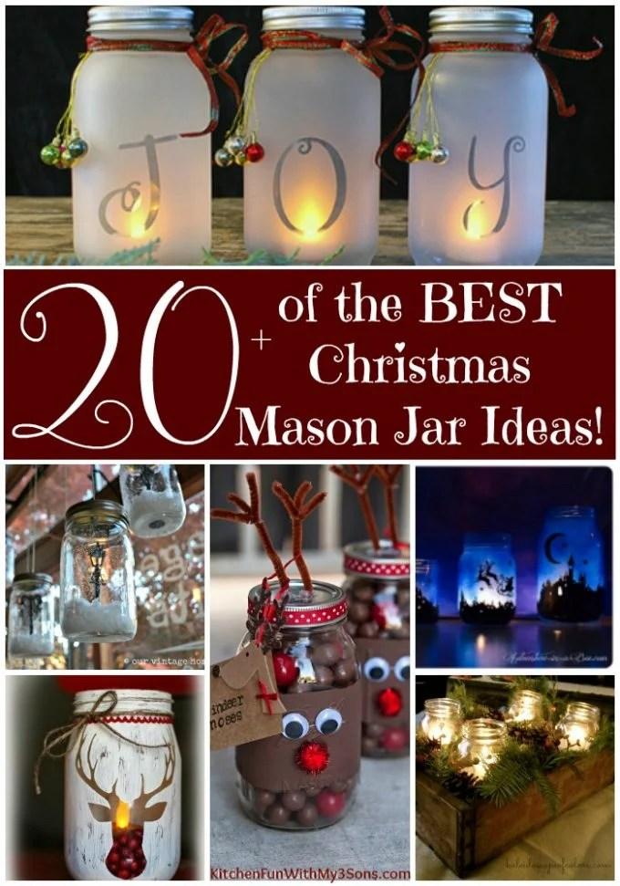 Over 20 of the BEST Christmas Mason Jar Ideas!