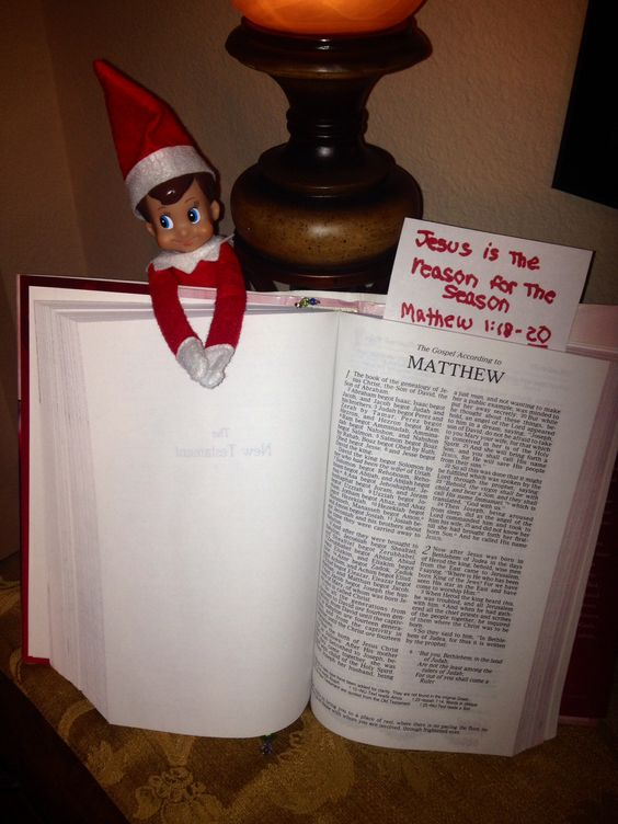 Jesus is the Reason for the Season - Elf on the Shelf