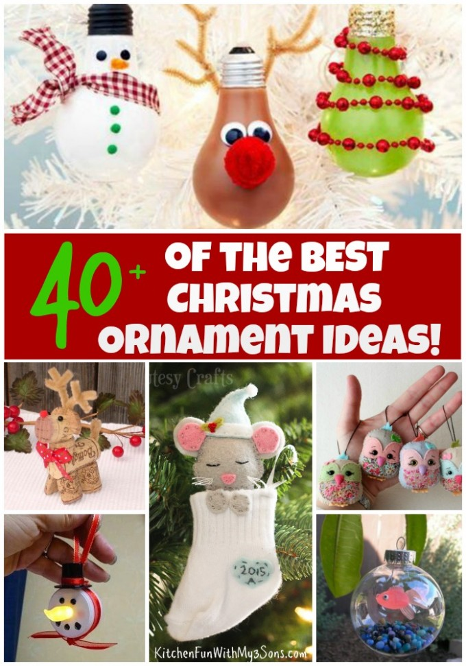 Over 40 of the BEST Christmas Ornament Ideas!