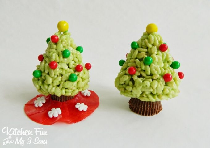 Rice Krispie Tree Treats...such a fun and easy Christmas treat idea for the Kids!