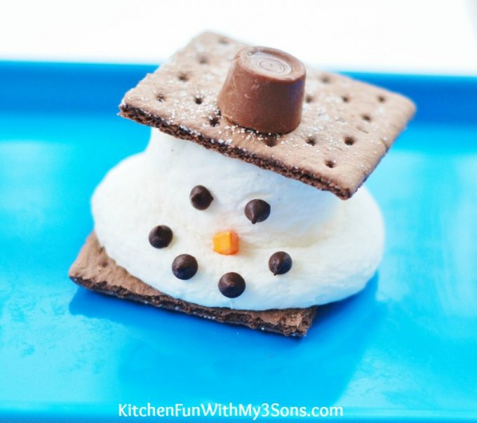 Melted Snowman S'mores