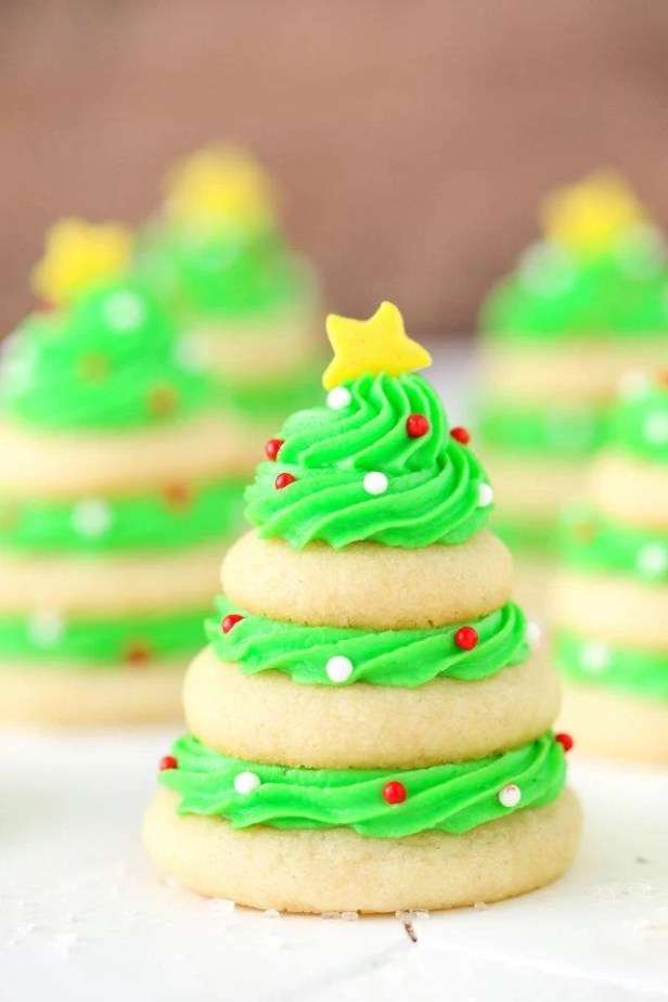 Christmas Tree Cookie Stacks...these are the BEST Christmas Cookie Recipes!
