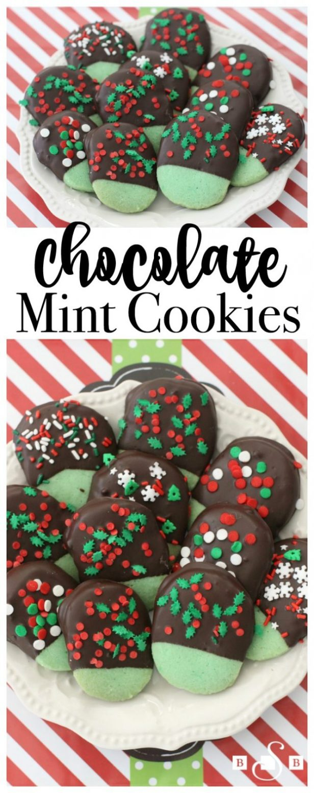 Chocolate Mint Cookies...these are the BEST Christmas Cookie Recipes!