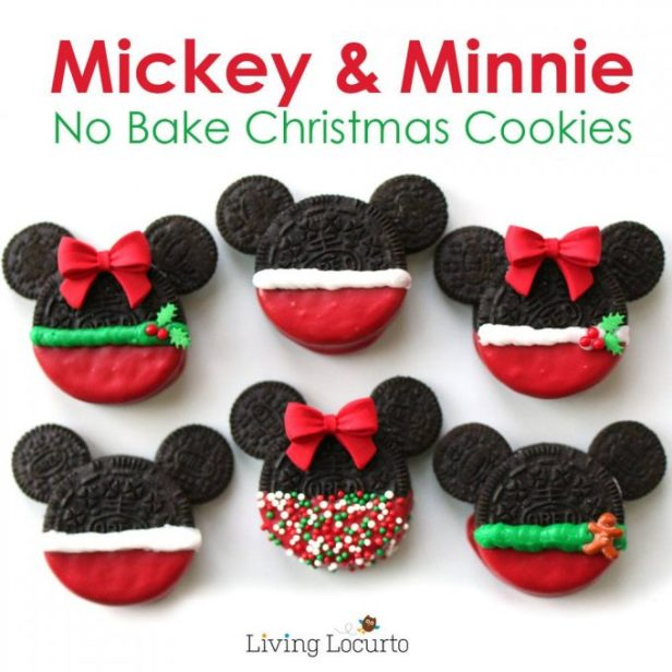 Mickey and Minnie Oreo Christmas Cookies...these are the BEST Christmas Cookie Recipes!
