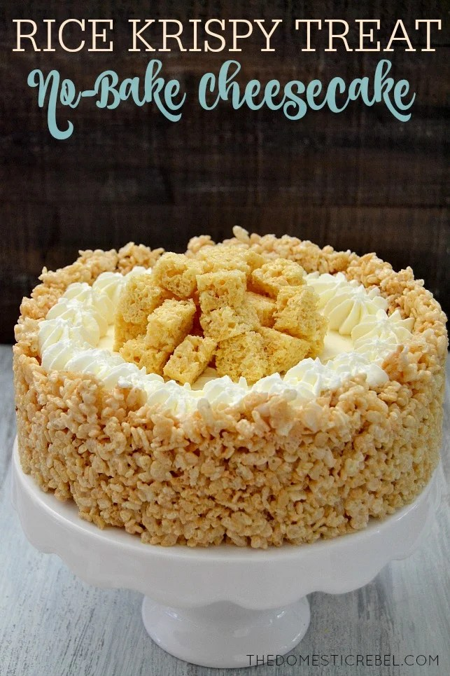 No-Bake Rice Krispie Treat Cheesecake...these are the BEST Cake Recipes!