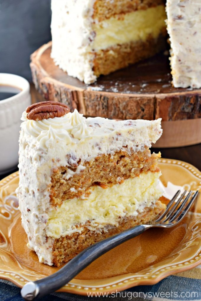 Carrot Cake Cheesecake Cake...these are the BEST Cake Recipes!