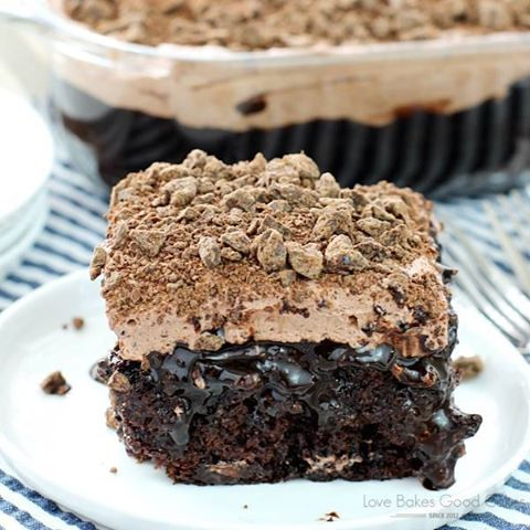 Death By Chocolate Poke Cake...these are the BEST Cake Recipes!