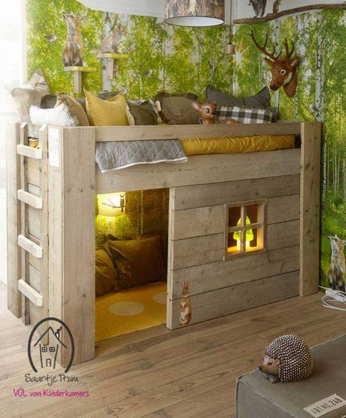 Wood Loft Bed...these are the BEST Bunk Bed Ideas!