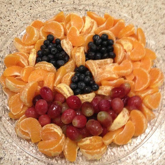 Halloween Pumpkin Fruit Platter