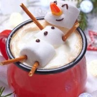 Marshmallow Snowman Hot Chocolate
