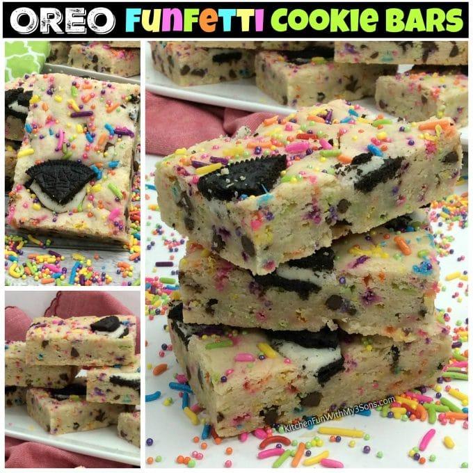 Oreo Funfetti Cookie Bars