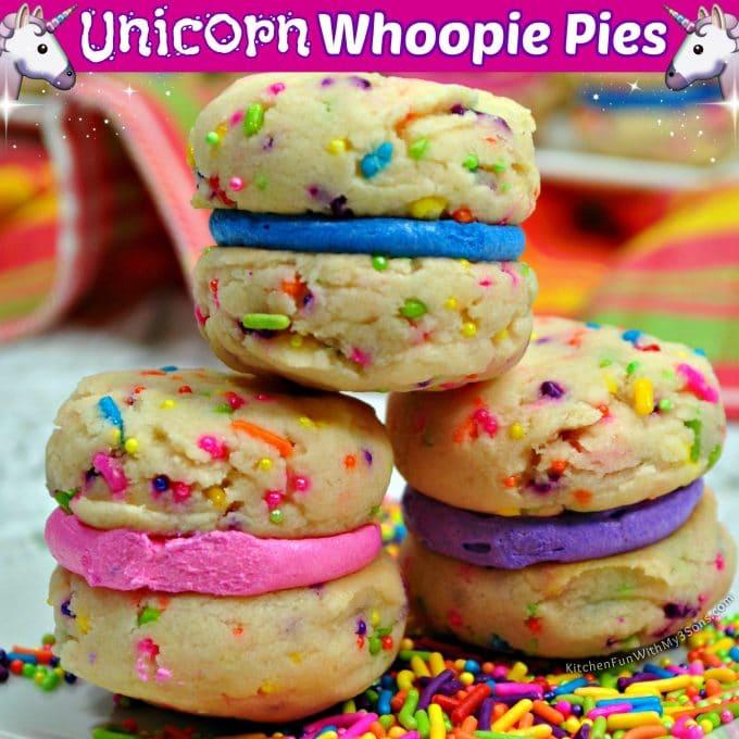 Unicorn Whoopie Pies