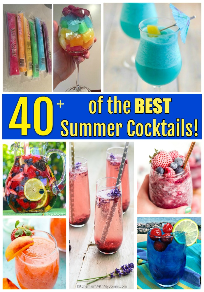 Over 40 of the BEST Summer Cocktails!