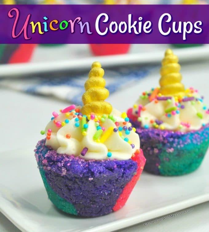 Unicorn Cookie Cups