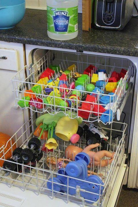 The BEST Cleaning Hacks...how to clean toys
