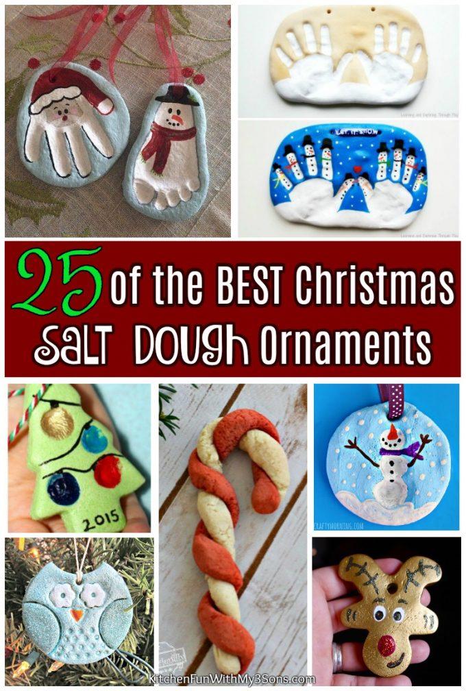 25 of the BEST Christmas Salt Dough Ornaments