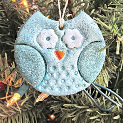 Salt Dough Owl Ornaments - Over 30 of the BEST Christmas Salt Dough Ornaments
