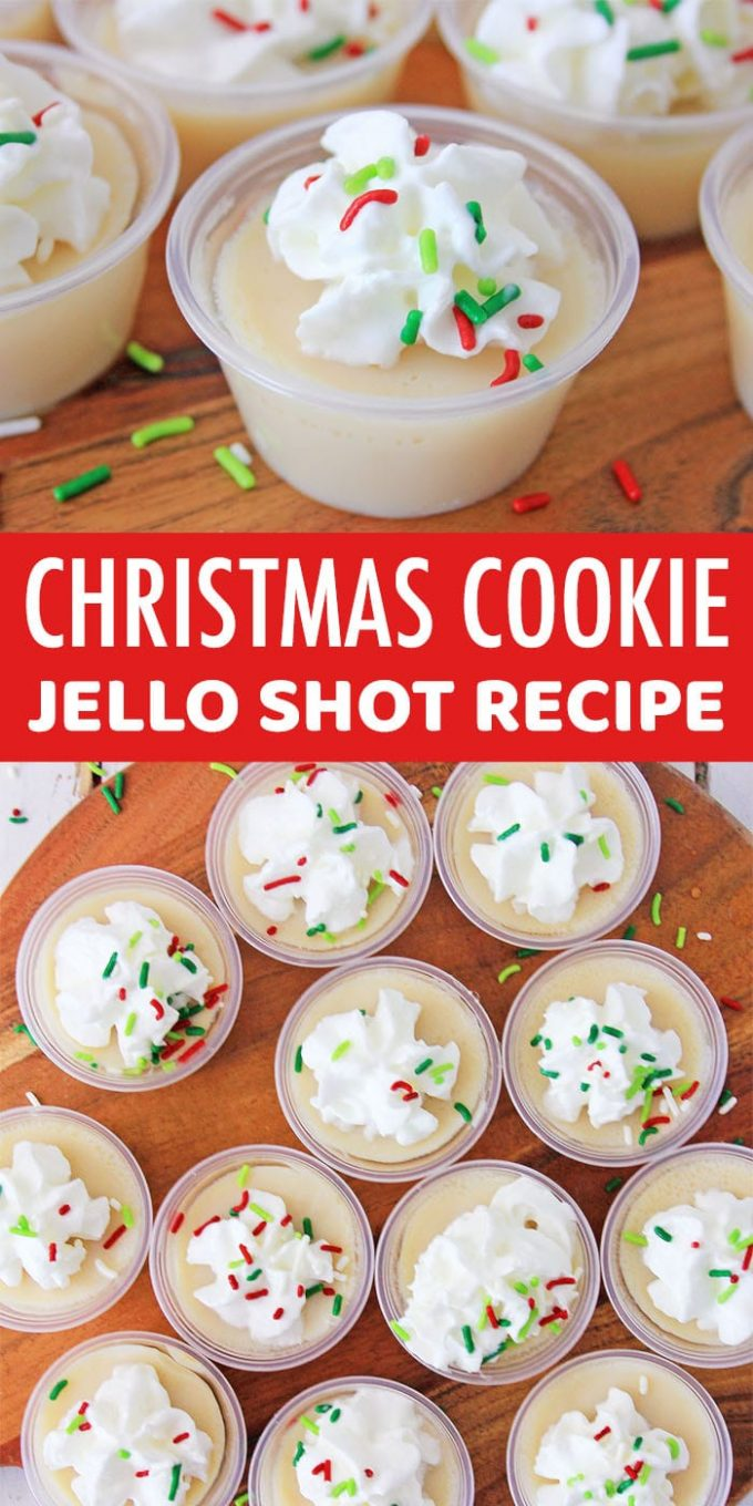 Christmas Cookie Jello Shots