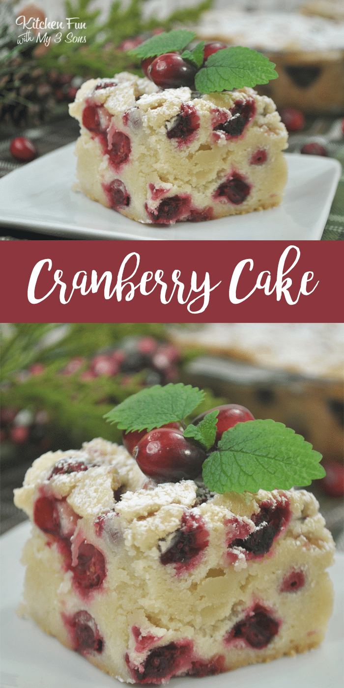 Cranberry Christmas Cake Recipe