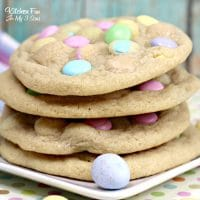 Easter M&M Cookies - Soft and Chewy