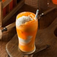 Boozy Creamsicle Float