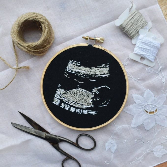 Custom Hand Embroidered Ultrasound