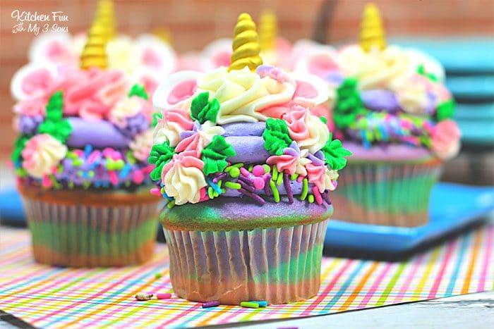 Colorful Unicorn Cupcakes