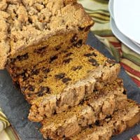 Streusel Pumpkin Chocolate Chip Bread