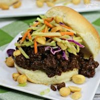 Thai Sloppy Joe Sliders