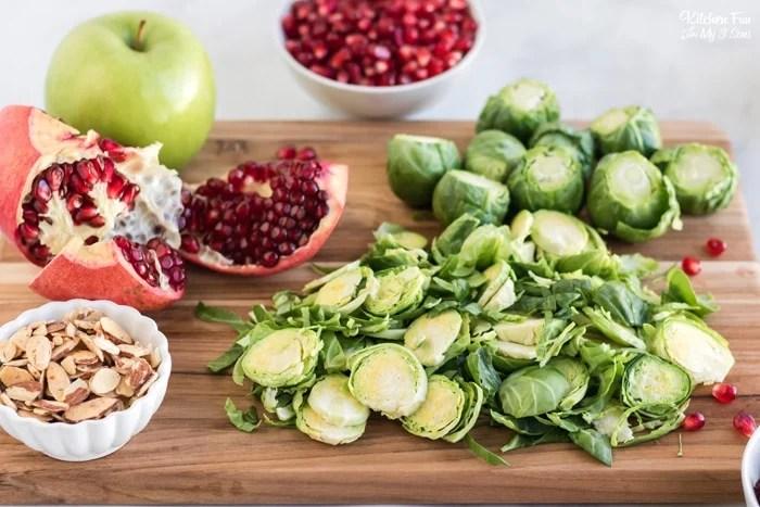 Brussel Sprout Salad Ingredients