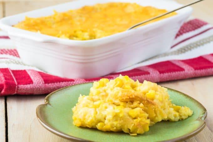 Cheesy and Creamy Corn Bake