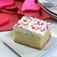 Valentine's White Texas Sheet Cake