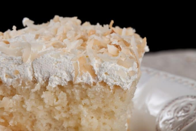 Coconut Cream Cake Close-Up