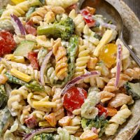 The Best Creamy Pasta Salad Recipe