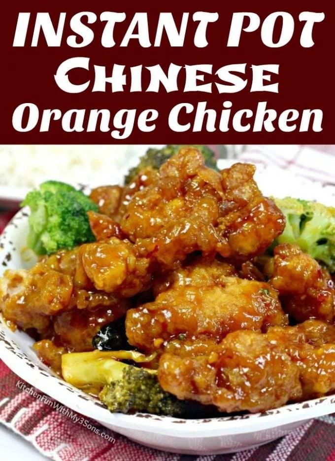 Instant Pot Chinese Orange Chicken