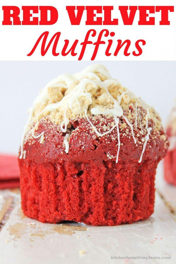 red velvet muffin picture for pinterest