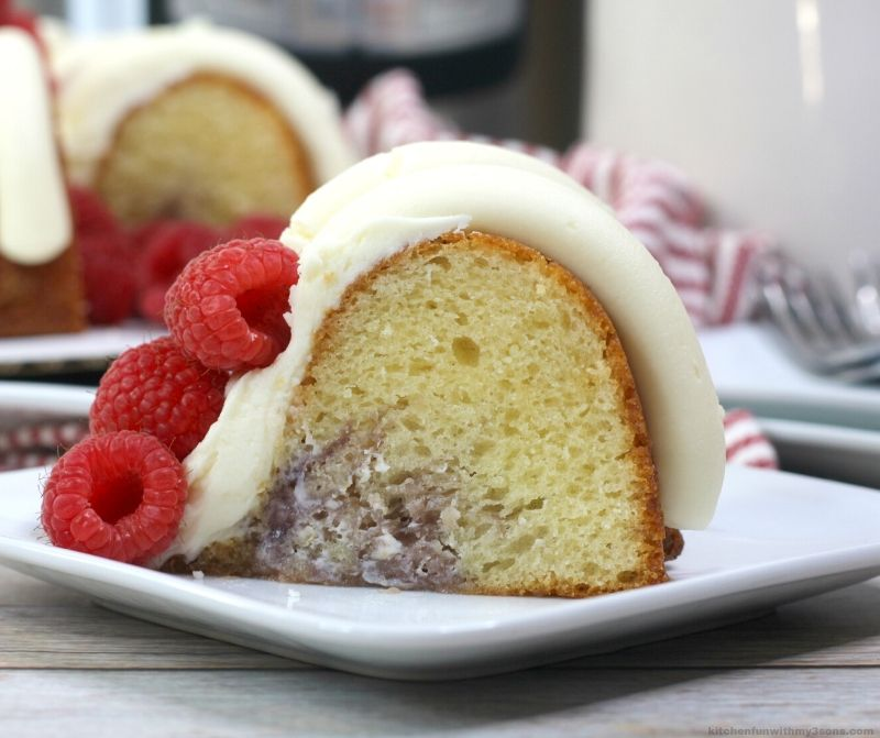 Instant pot White Chocolate Raspberry Bundt