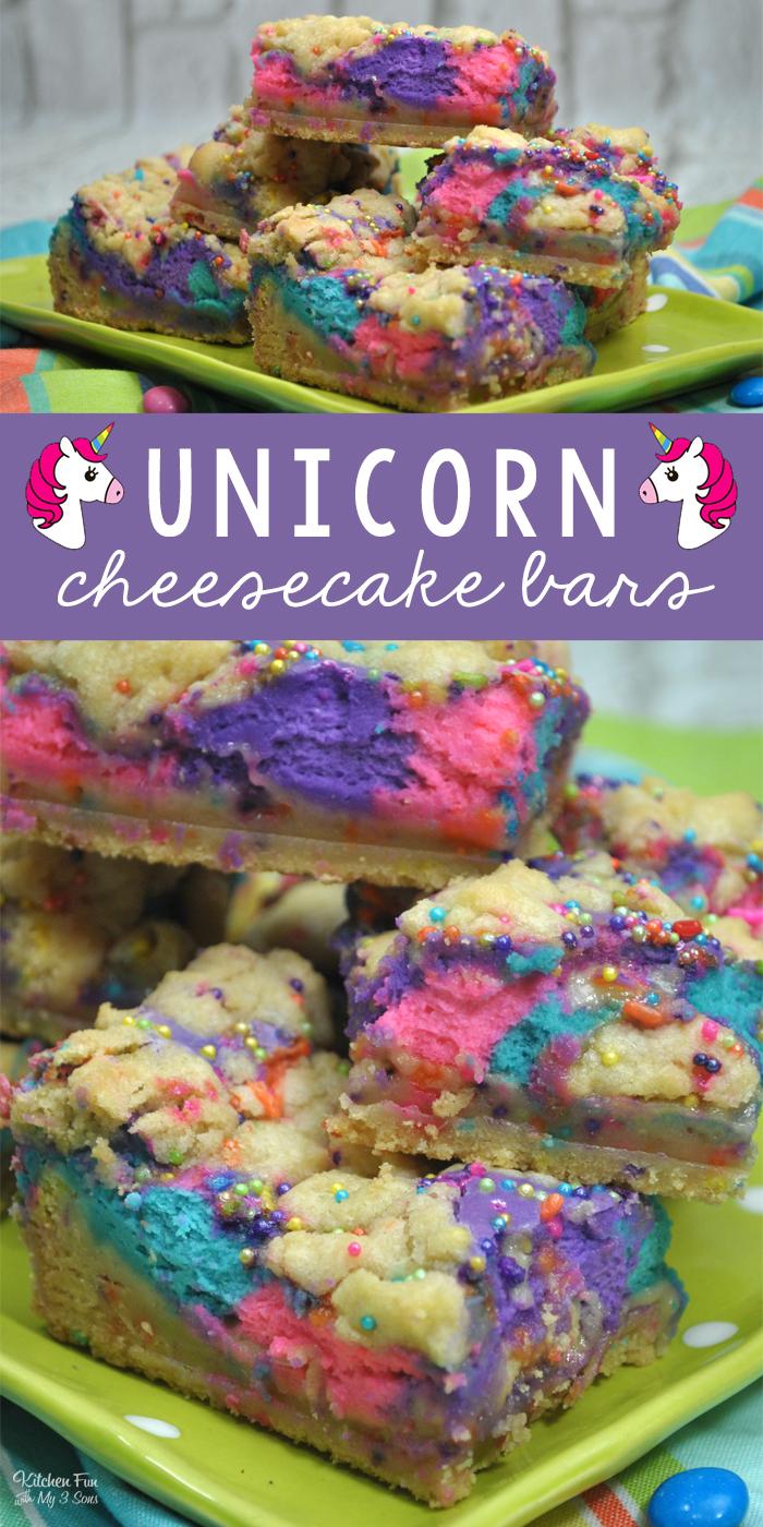 Unicorn Cheesecake Bars