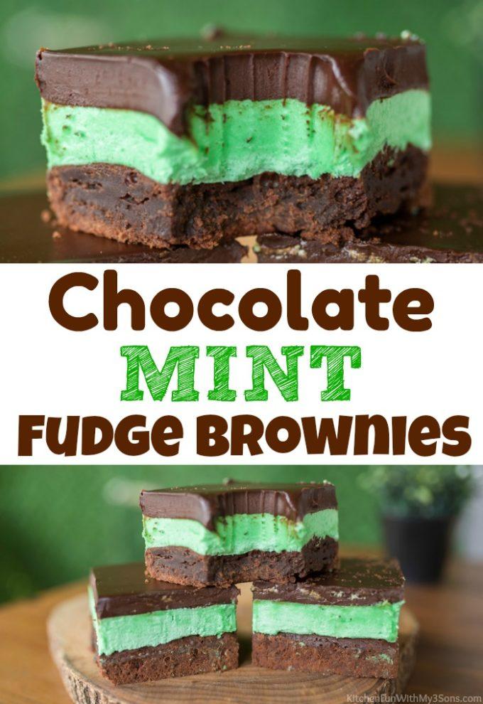 Chocolate Mint Fudge Brownies