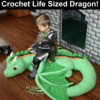 Life Size Crochet Dragon