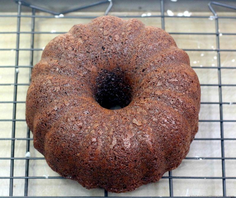 Guinness Chocolate Cake before glaze