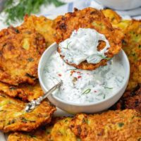 Crispy Zucchini Fritters Recipe (Low-Carb)